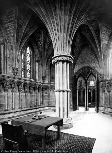 Photo of Lichfield, The Cathedral, Chapter House Table c.1880