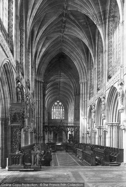 Photo of Lichfield, The Cathedral, Choir And Bishop's Throne c.1880