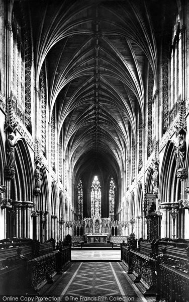 Photo of Lichfield, The Cathedral Choir, East c.1880