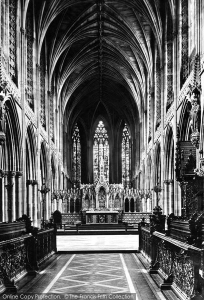 Photo of Lichfield, The Cathedral, Choir East c.1880