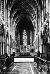 The Cathedral, Choir East c.1880, Lichfield