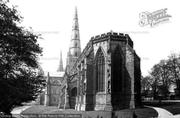 Photo of Lichfield, The Cathedral From Bishop Selwyn's House c.1880