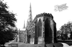 The Cathedral From Bishop Selwyn's House c.1880, Lichfield