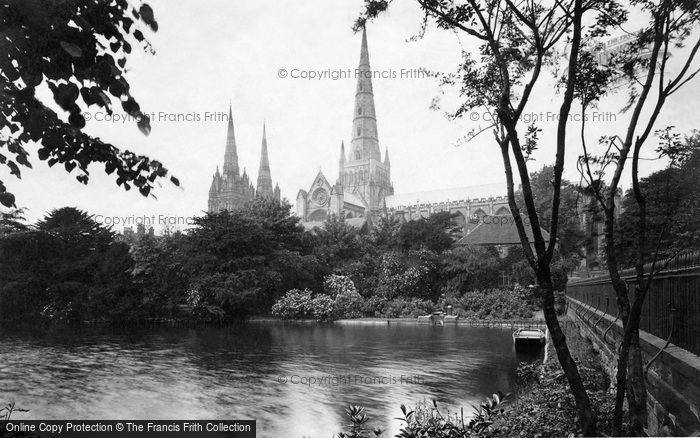 Photo of Lichfield, The Cathedral, From South East c.1880