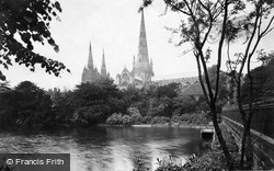 Lichfield, The Cathedral, From South East c.1880