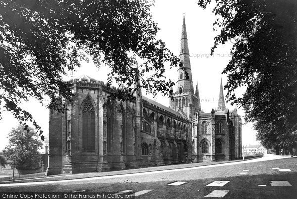 Photo of Lichfield, The Cathedral, From The North East c.1880