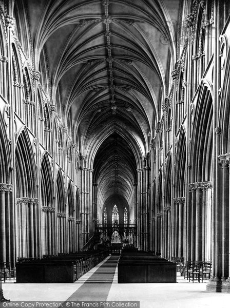 Photo of Lichfield, the Cathedral, Nave east c1880, ref. 12827