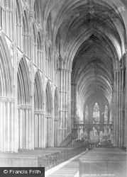 Lichfield, The Cathedral, Nave East c.1880