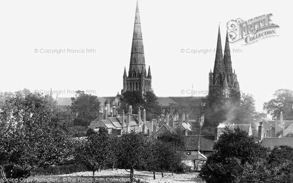 Photo of Lichfield, The Cathedral, North West c.1880