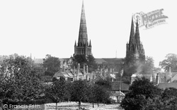 Lichfield, The Cathedral, North West c.1880