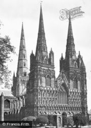 Lichfield, The Cathedral, North West c.1930