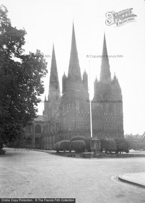 Photo of Lichfield, The Cathedral, North West c.1955