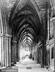 Lichfield, The Cathedral, South Choir Aisle c.1880