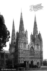 The Cathedral, South West 1887, Lichfield