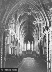 Lichfield, The Cathedral, The Choir Through The Rood Screen c.1965