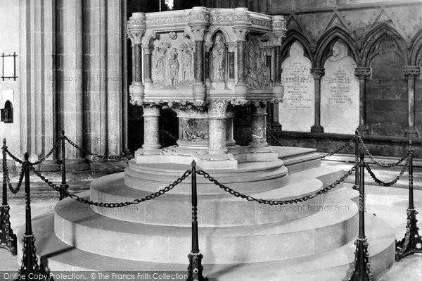 Photo of Lichfield, The Cathedral, The Font c.1880