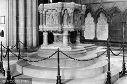 Lichfield, The Cathedral, The Font c.1880