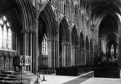 The Cathedral, The Nave c.1880, Lichfield