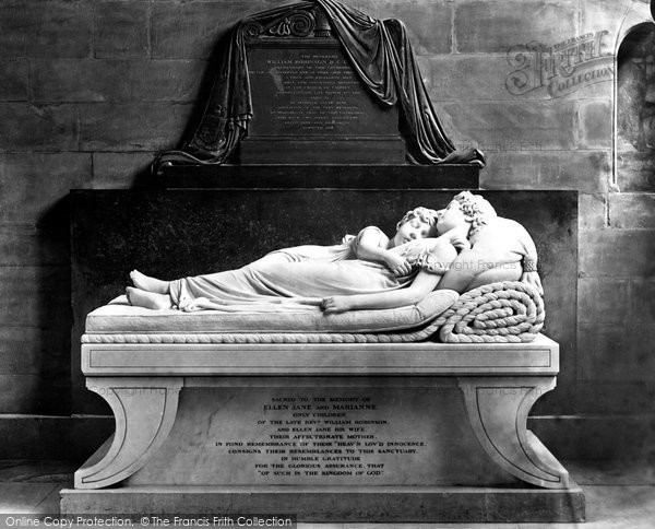 Lichfield, the Cathedral, the Sleeping Children by Sir Francis Chantrey c1880