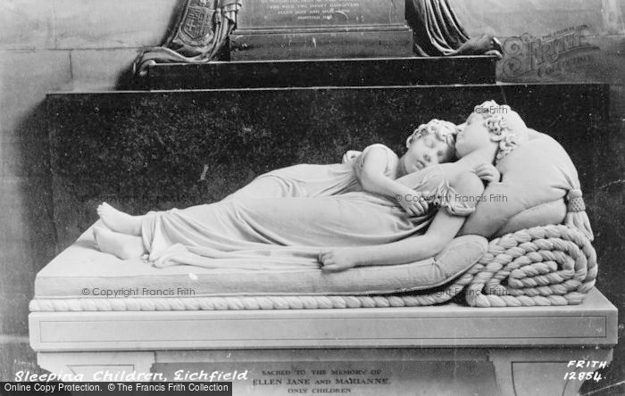 Photo of Lichfield, The Cathedral, The Sleeping Children c.1880