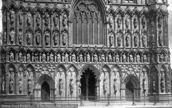 Photo of Lichfield, The Cathedral, West Front 1887