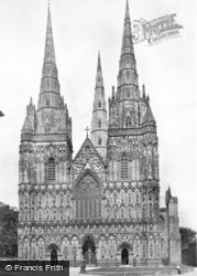 Lichfield, The Cathedral, West Front c.1930
