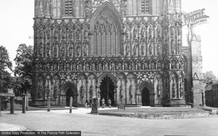 Photo of Lichfield, The Cathedral, West Front c.1955