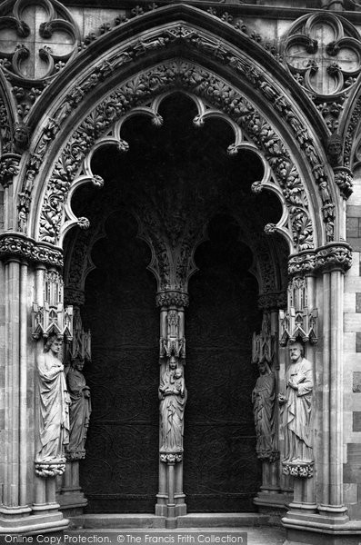Photo of Lichfield, The Cathedral, West Porch c.1884