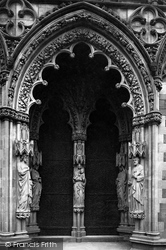 Lichfield, The Cathedral, West Porch c.1884