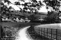 Lifton, View From Hill Walk c.1950