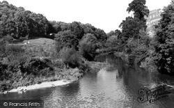 Limpley Stoke, River Avon c.1955