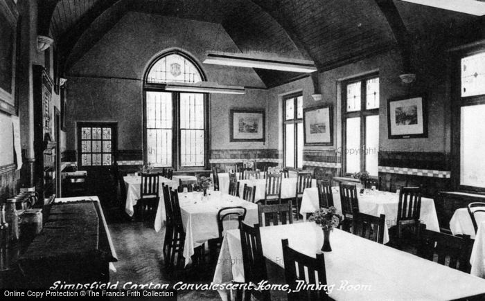 Photo of Limpsfield, Caxton Convalescent Home, Dining Room c.1950