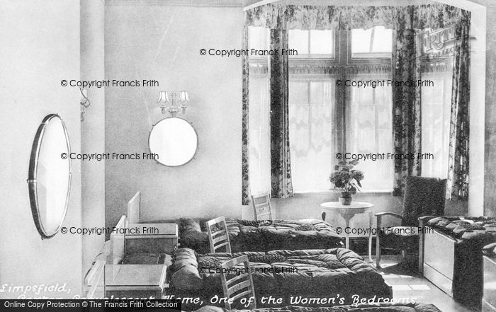 Photo of Limpsfield, Caxton Convalescent Home, One Of The Women's Bedrooms c.1950