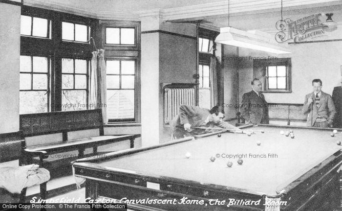 Photo of Limpsfield, Caxton Convalescent Home, The Billiard Room c.1950