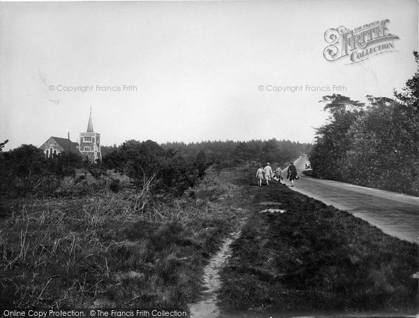 Photo of Limpsfield Chart, Common And Church 1929