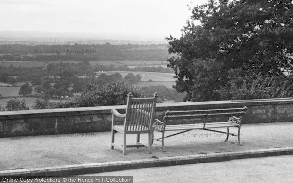 Photo of Limpsfield Chart, Seats At Henry Radcliffe's Home c.1955
