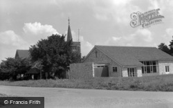 St Andrew's Church And Hall 1961, Limpsfield Chart
