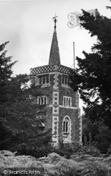 St Andrew's Church c.1955, Limpsfield Chart
