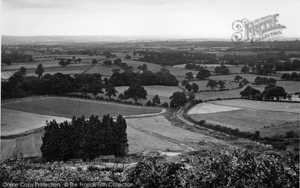 Photo of Limpsfield Chart, View From Henry Radcliffe's Home c.1955