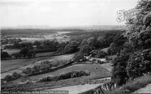 Photo of Limpsfield Chart, View Of Surrey Weald 1961