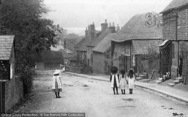 Photo of Limpsfield, Girls In The Village 1906