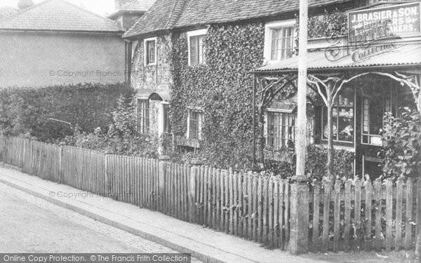 Photo of Limpsfield, J Brasier & Son, Builders & Undertakers 1906