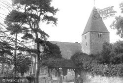 St Peter's Church c.1955, Limpsfield