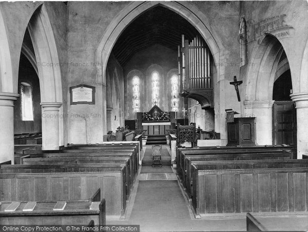 Photo of Limpsfield, St Peter's Church Interior 1927