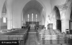 Limpsfield, St Peter's Church, Interior 1967