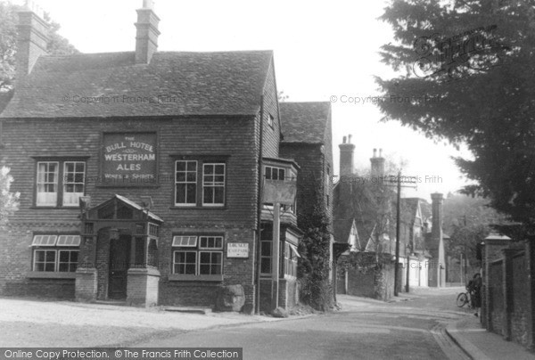 Photo of Limpsfield, The Bull Hotel c.1955
