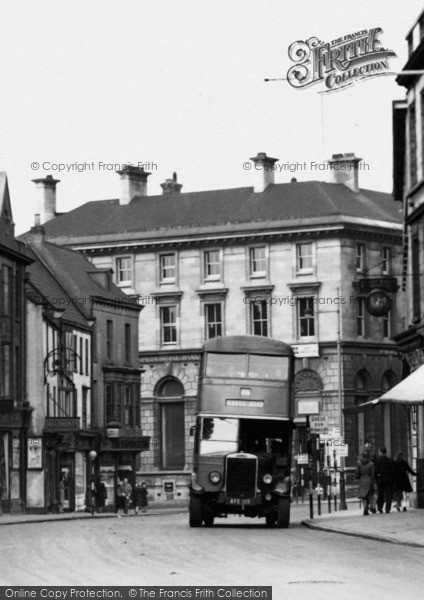 Photo of Lincoln, A Bus In Silver Street c.1950