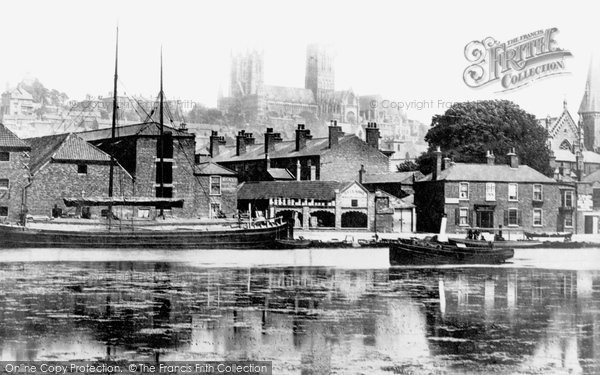 Lincoln, Brayford Pool 1890