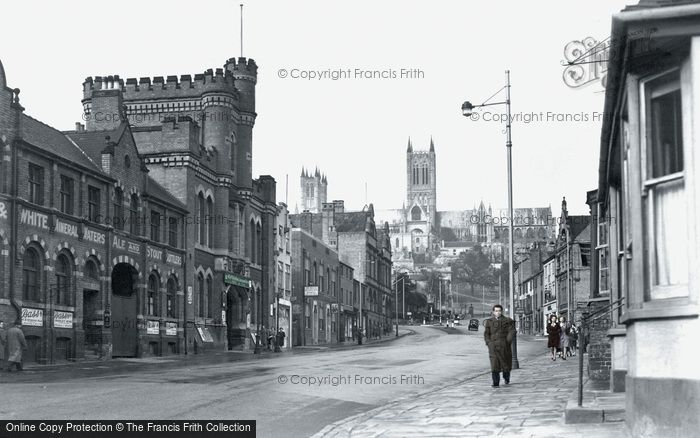 Photo of Lincoln, Broadgate c.1950