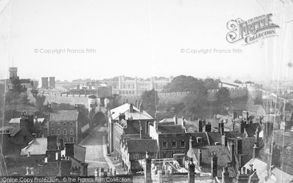 Photo of Lincoln, Castle, From The Cathedral c.1879